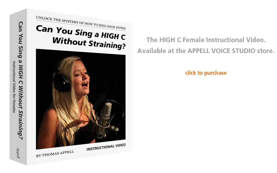 Can You Sing a HIGH C Without Straining? Written By Orange County Vocal Coach Thomas Appell