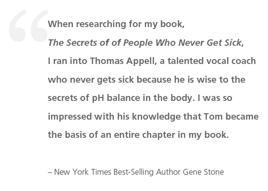 New York Times Best-Selling Author Gene Stone Devotes Entire Chapter of New Book To Orange County Vocal Coach Thomas Appell