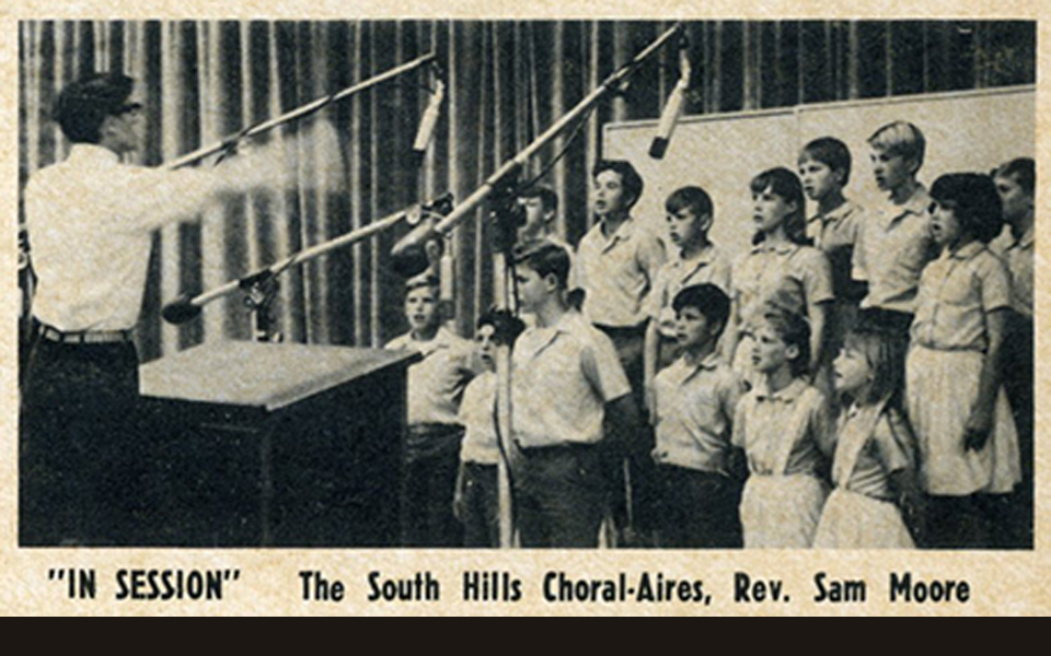 Orange County vocal coach Thomas Appell in the studio recording an album at age 12!