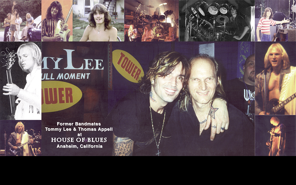 Orange County Vocal Coach Thomas Appell and Former Bandmate Tommy Lee at the House of Blues In Anaheim, C